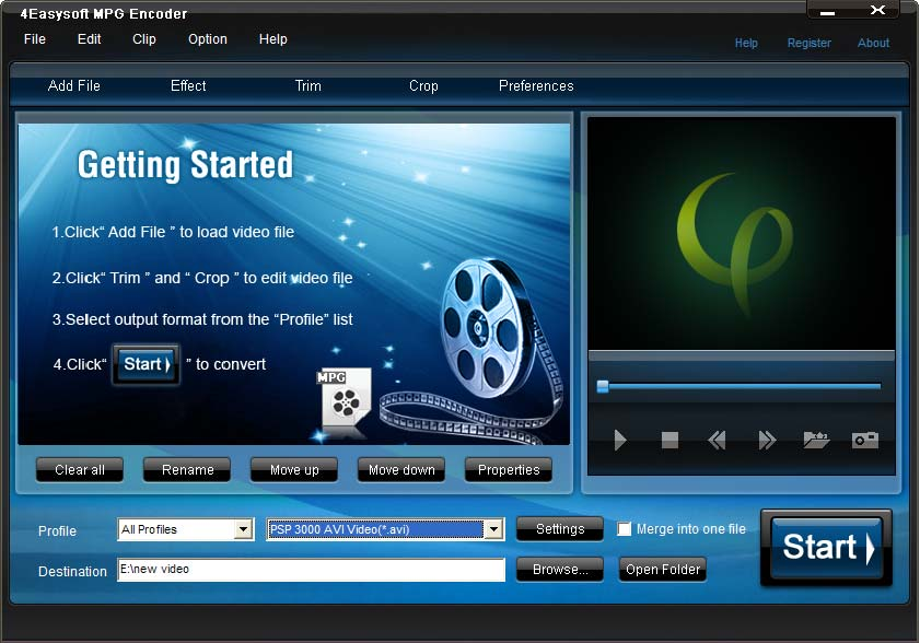 4Easysoft MPG Encoder Multimedia & Graphics Video Conversion - Free Software Download version 3.1.32