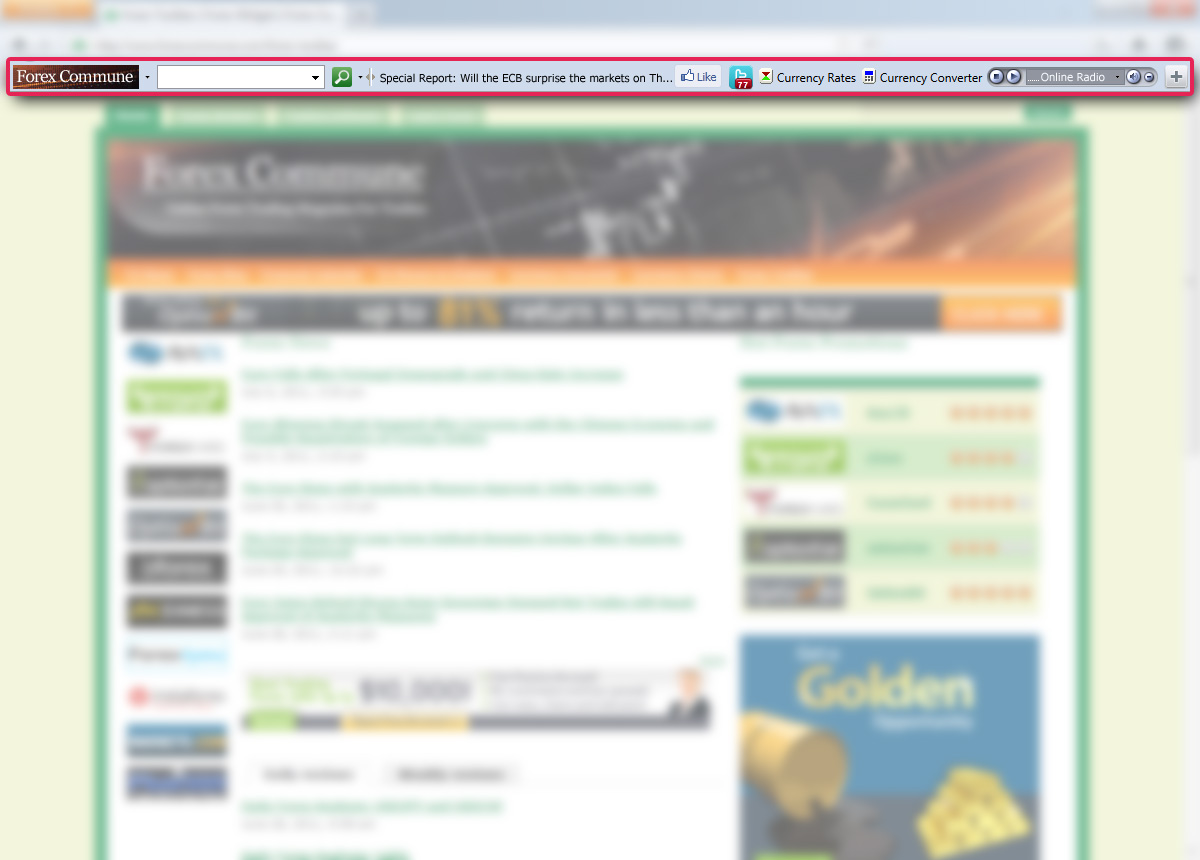 Forex news toolbar