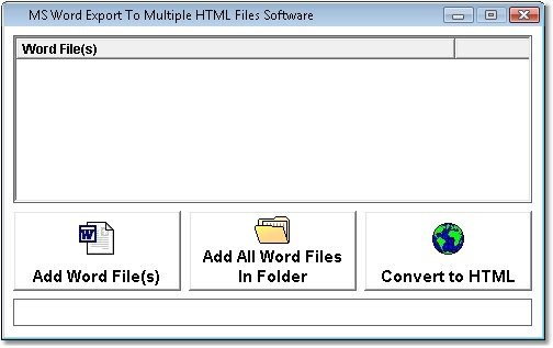 MS Word to HTML Batch Convert Multiple Documents Software
