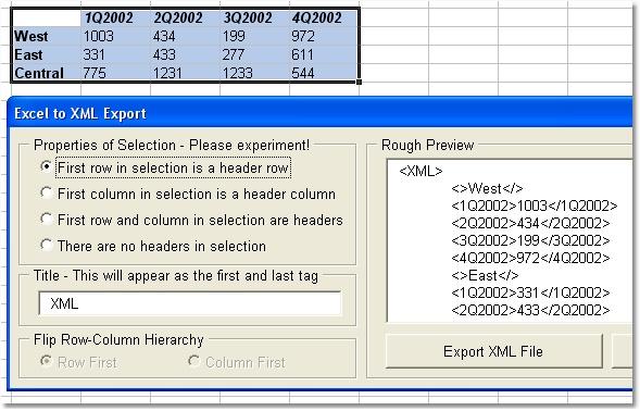 Excel Export To XML Software