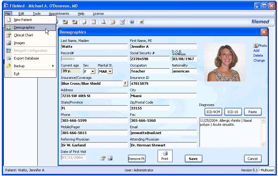 FileMed Electronic Medical Records (EMR)