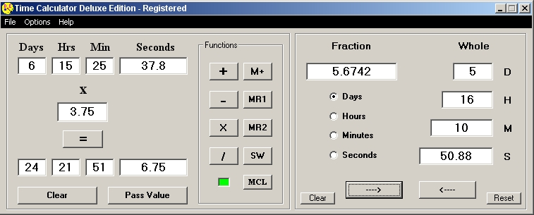 how to add fractions on a fianancial calaulator