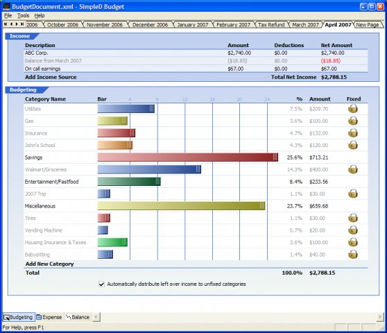 personal budget software free download