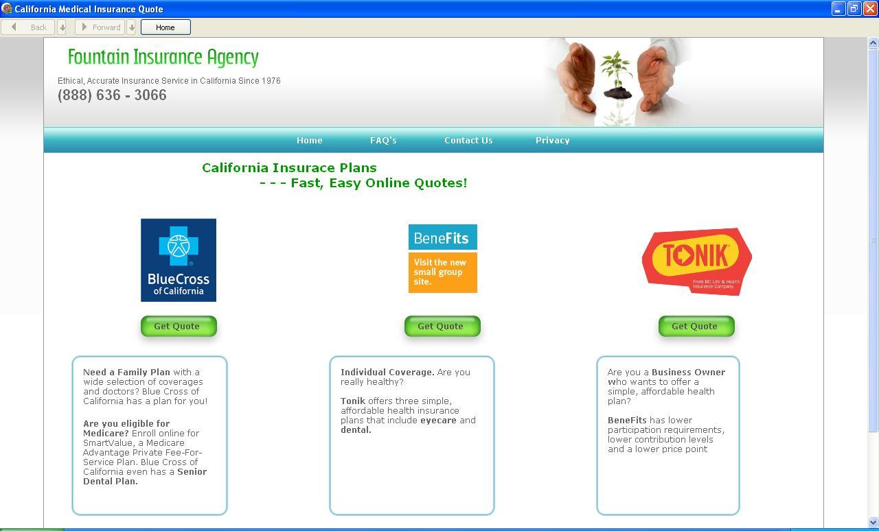 California Medical Insurance Quote