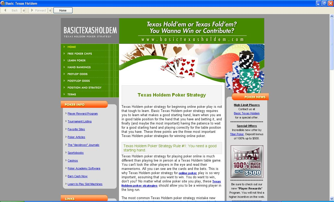 Basic guide to texas holdem