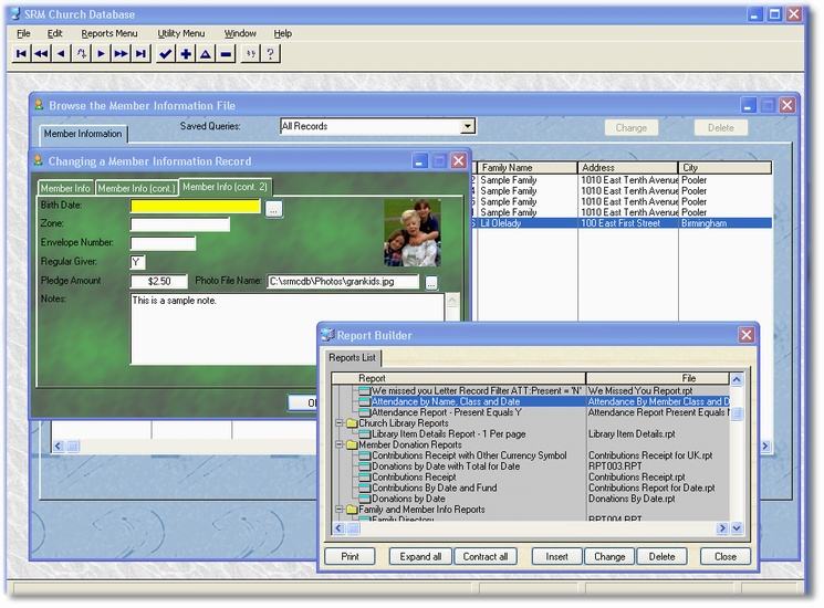 SRM Church Database 1.0 by Dennis Baggott and Sons- Software Download