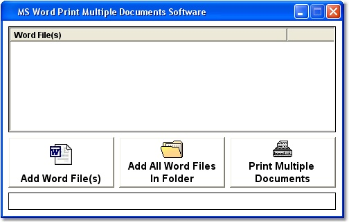 MS Word Print Multiple Documents Software