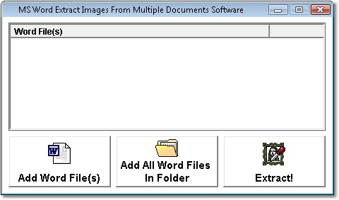 MS Word Extract Images From Multiple Documents Software