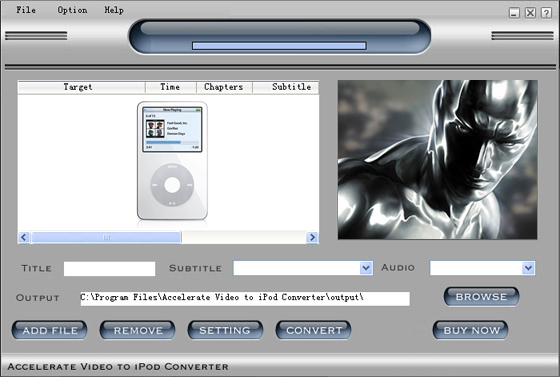 Accelerate Video to iPod Video Converter
