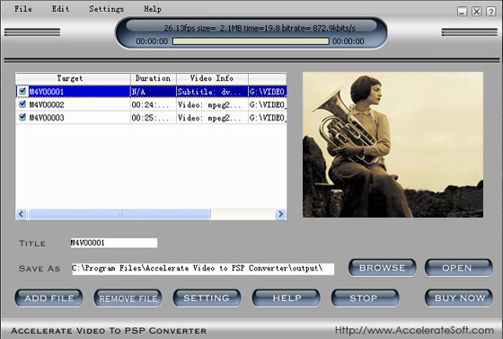 Accelerate Video to PSP Video Converter