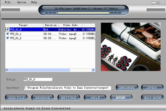 Accelerate Video to Zune Video Converter