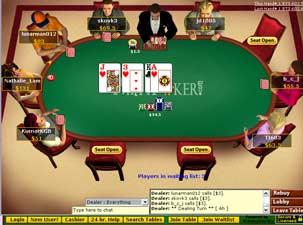 Online multiplayer poker