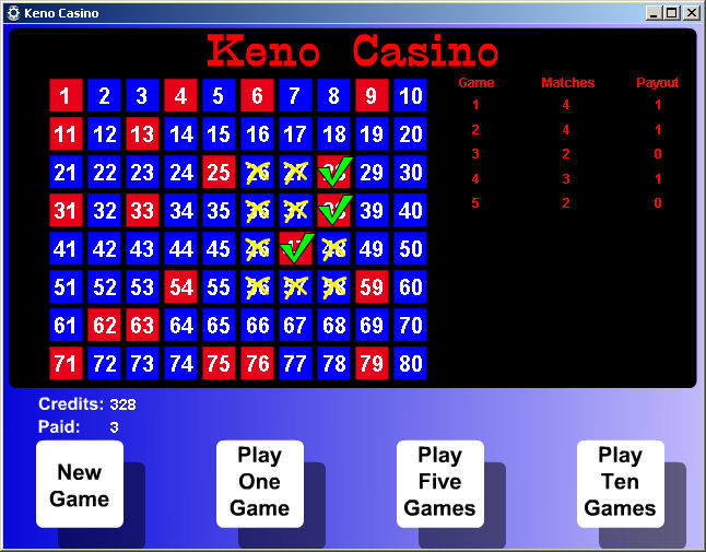 Casino games keno gambling prevention software