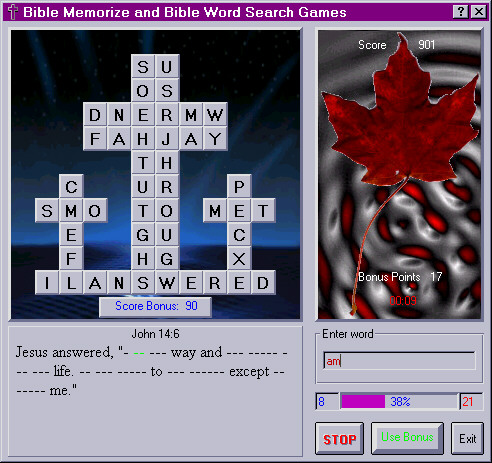 Bible Memorize and Bible Word Search 1.00Word Games by Kingdom Software - Software Free Download