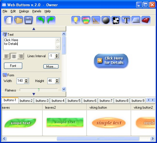 Web Buttons 2.00 by Web-Buttons.com- Software Download