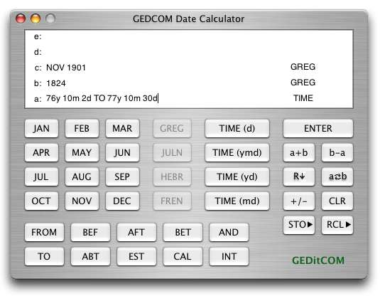 Date Calculator 1.1 by RSAC Software- Software Download