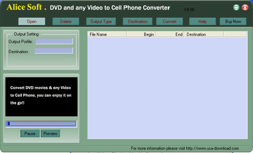 Alice AVI to Cell Phone ConverteR