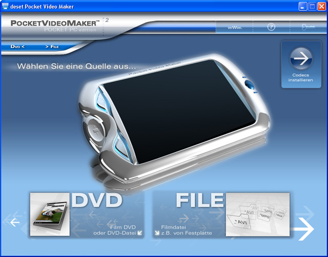 deset Pocket Video Maker Pocket PC 2.0