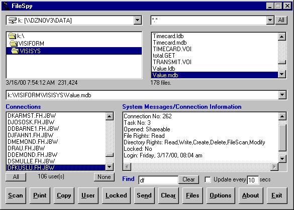 FileSpy for Novell