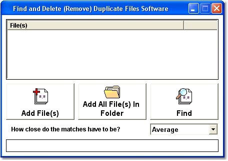 Find and Delete (Remove) Duplicate Files Software