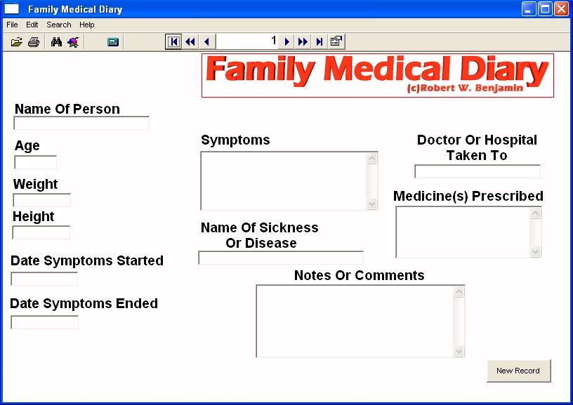Family Medical Diary
