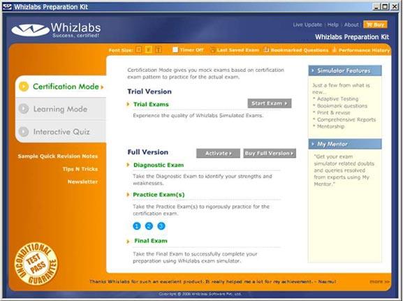 Whizlabs OCP 9i (1Z0031) Kit 6.0.1