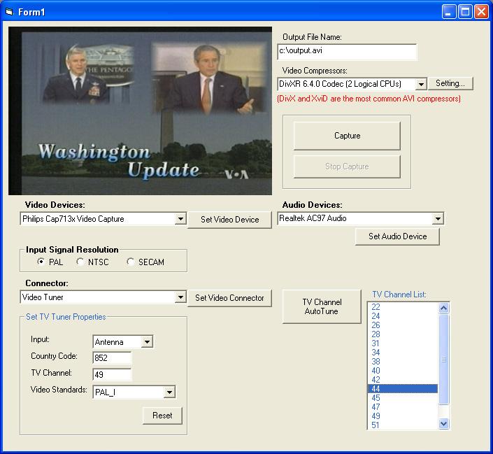 X360 Video Capture ActiveX OCX