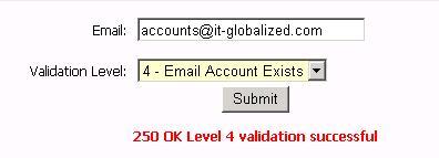 ITG Email Validator