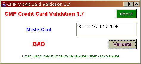 CreditCard Validator 1.7