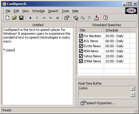 CoolSpeech 4.0Misc & Plug-ins by Tom Ziyuan - Software Free Download
