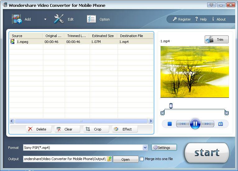 Axara video to mobile phone converter 2 5 2
