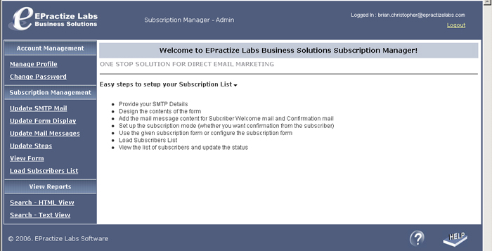 EPractize Labs Online Subscription Manager Hosting Edition