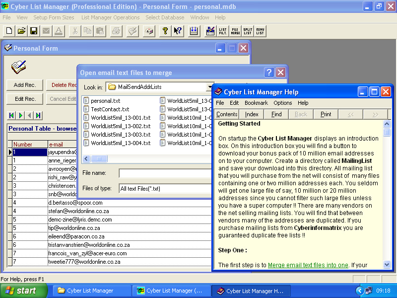 Cyber List Manager 7.0.2006