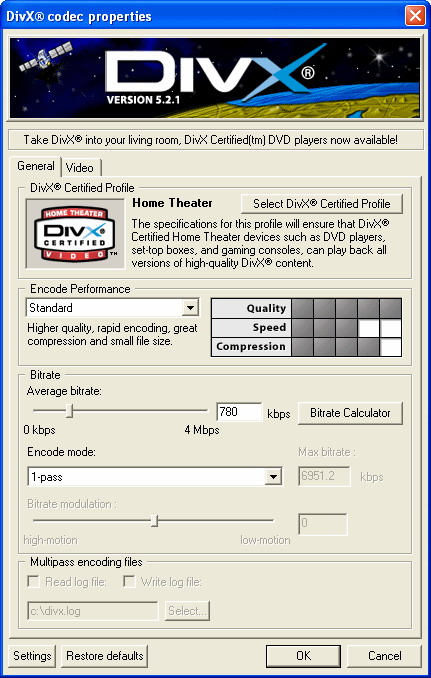 DivX Player (with DivX Codec) for 98/Me