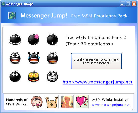MsgJump Free MSN Emoticons Pack 2 1.0