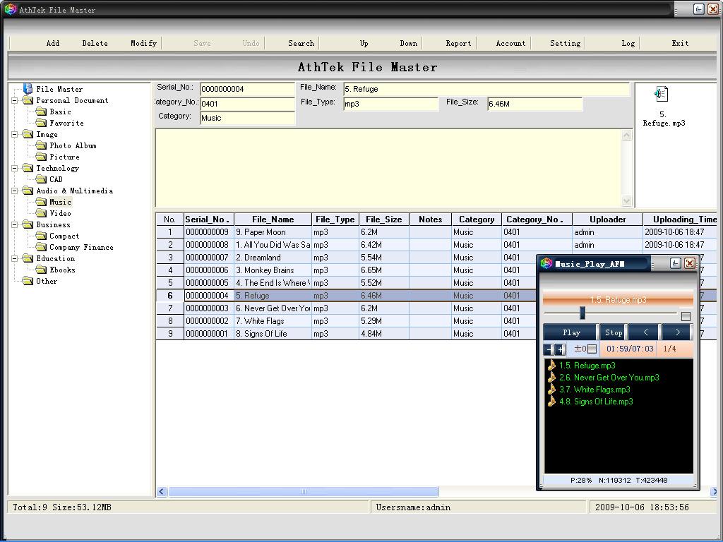 AthTek File Master File Locker