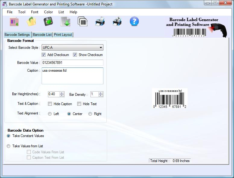 Generate Barcode Software