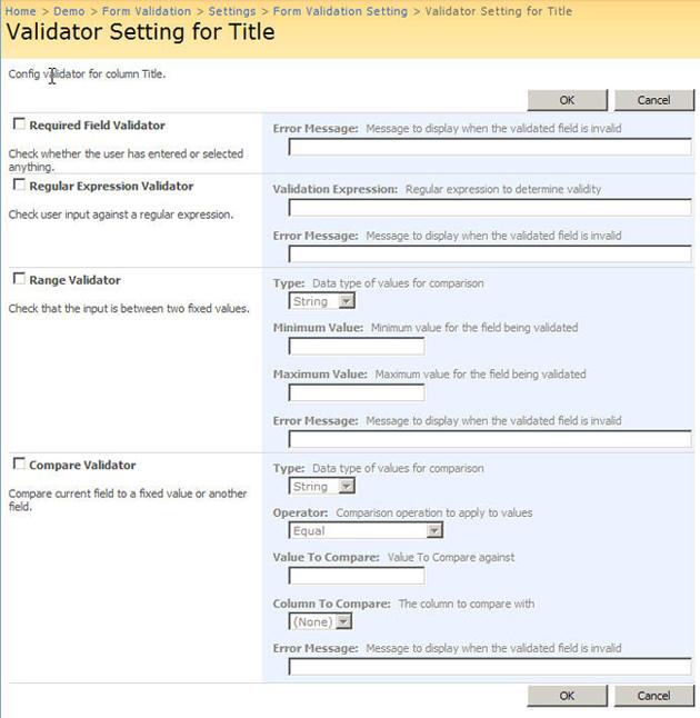 SharePoint Form Validation