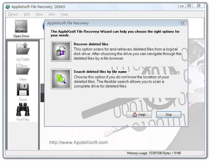 AppleXsoft Windows File Recovery