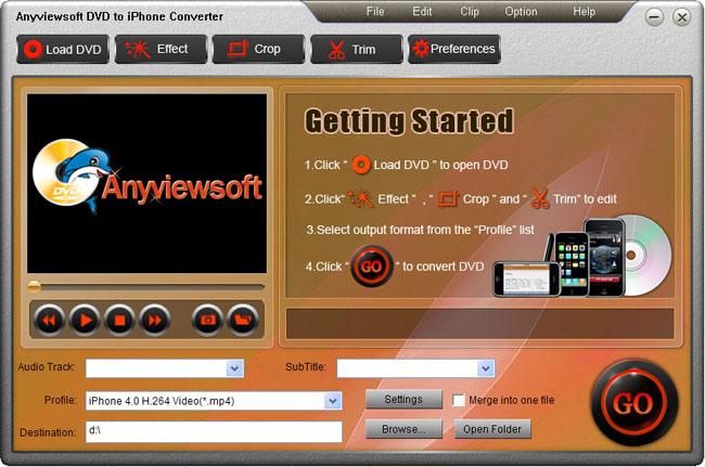 Anyviewsoft DVD to iPhone Converter