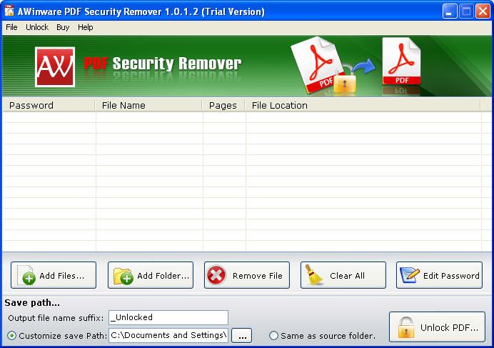 unlock pdf file for printing