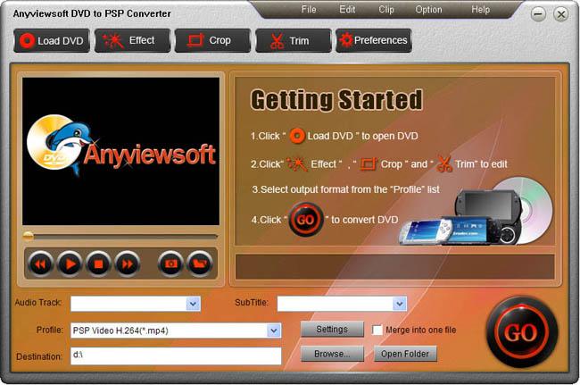 Anyviewsoft DVD to PSP Converter