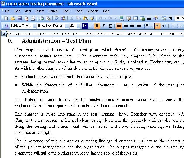 lotus notes database templates - user acceptance testing softwares free download